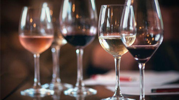 Weingläser - Rotwein - Weißwein - Rosé - Champagner - Sekt