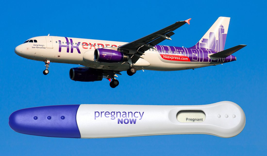 Weiterflug nur nach Schwangerschaftstest