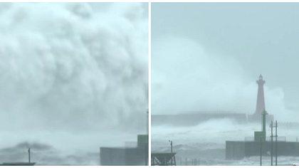 Nach Monster-Typhoon: Größte Welle aller Zeiten gefilmt?