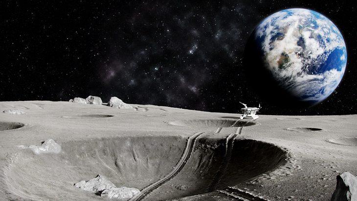 Die Erde vom Mond aus