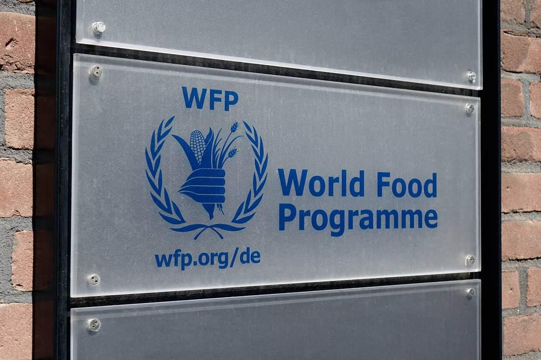 Schild des Welternährungsprogramms