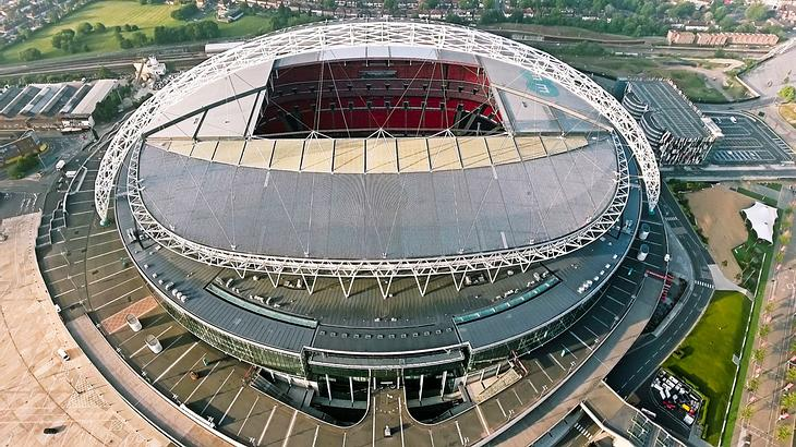 Wembley-Stadion in London.