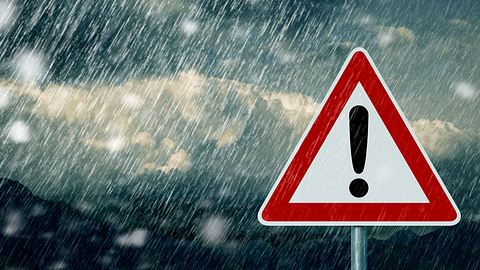 Zweithöchste Warnstufe: So wird das Wetter am Wochenende