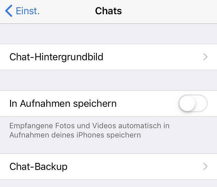 Whatsapp chat hintergrund weg