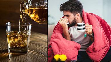 Whiskey kann helfen, Erkältungsbeschwerden zu lindern
