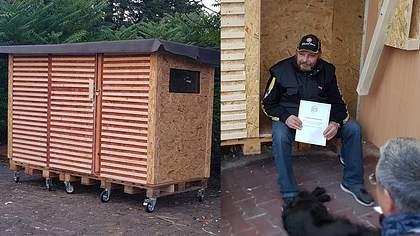 Erste Mini-Wohnbox für Obdachlosen aufgestellt