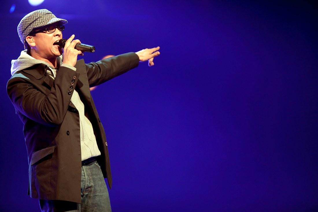 Xavier Naidoo bei einem Auftritt