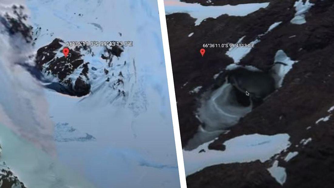 YouTuber entdeckt mysteriöse Höhle in der Antarktis