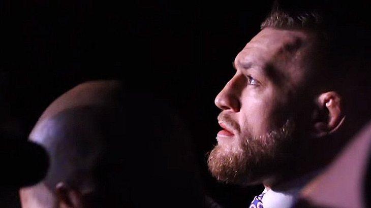 Conor McGregor beim Stop seiner Promo-Tour mit Floyd Mayweather in London