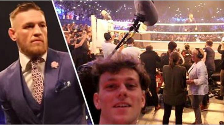 Zac Alsop mogelt sich in den Backstage-Bereich der Promo-Tour von Conor McGregor und Floyd Mayweather