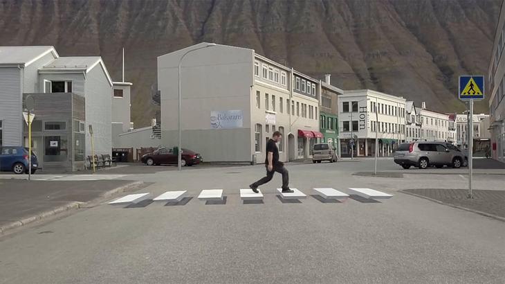 Island: Dieser Zebrastreifen lässt jedes Auto anhalten