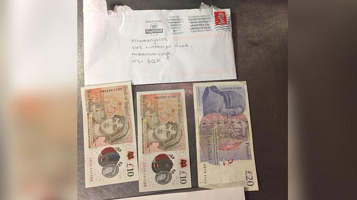 Zecher bezahlen offene Rechnung per Brief