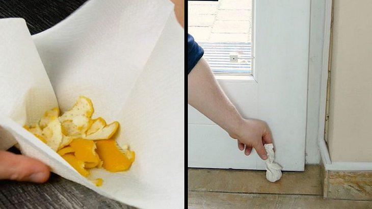 Deshalb solltest du ein kleines Säckchen Zitronenschale hinter die Tür stellen